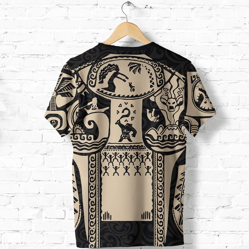 Maui polynesian tattoo all over print tshirt - back
