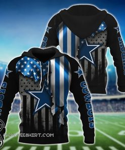 NFL dallas cowboys american flag all over print shirt