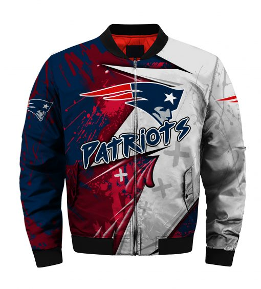 NFL new england patriots all over printed bomber