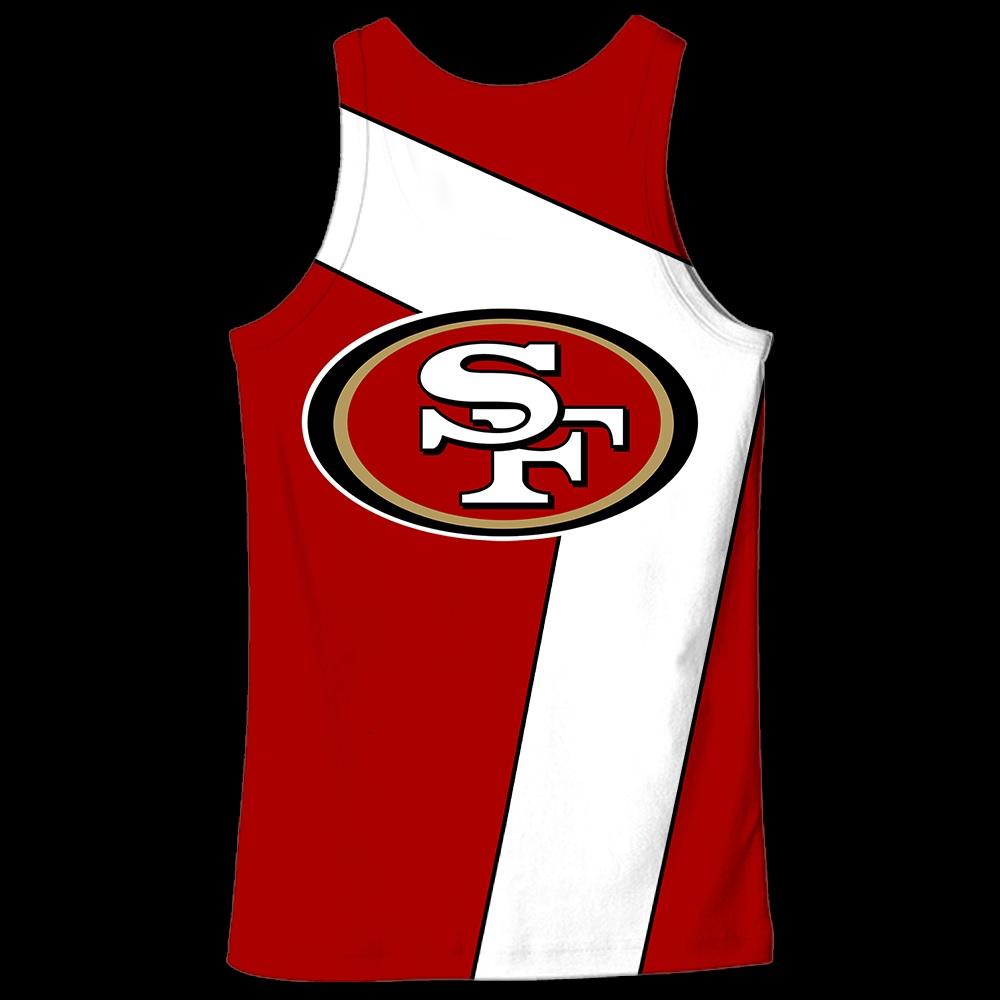 NFL san francisco 49ers full over print tank top - back