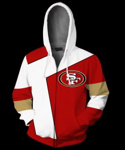 NFL san francisco 49ers full over print zip hoodie