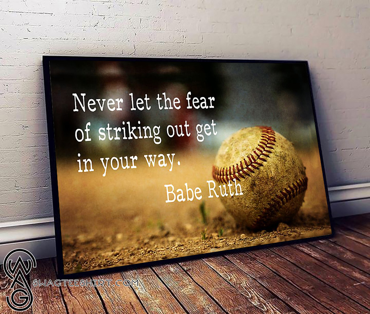 Never let the fear of striking out get in your way babe ...