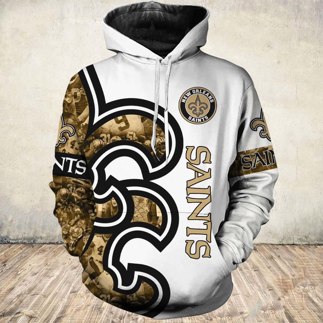 New orleans saints all over printed hoodie