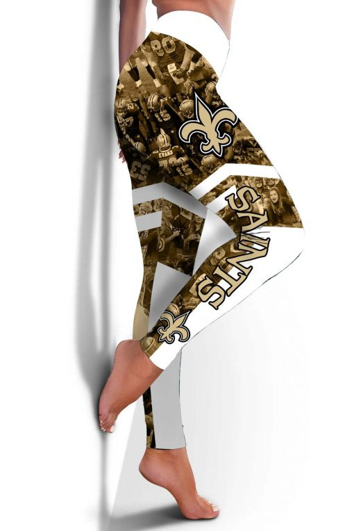 New orleans saints all over printed legging