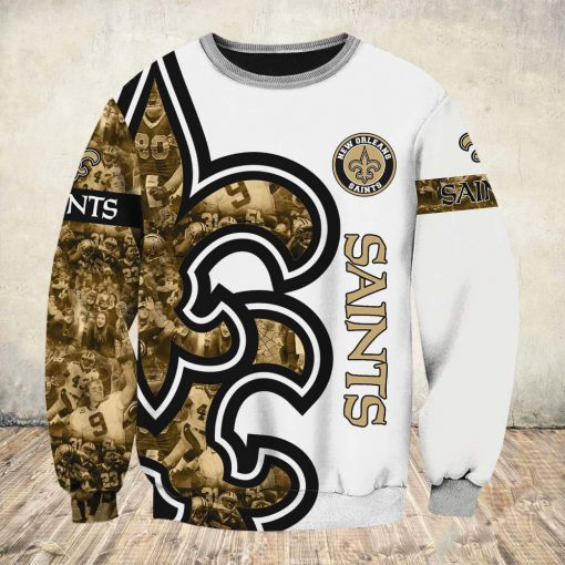 New orleans saints all over printed sweatshirt