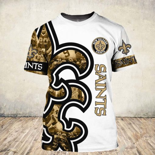 New orleans saints all over printed tshirt