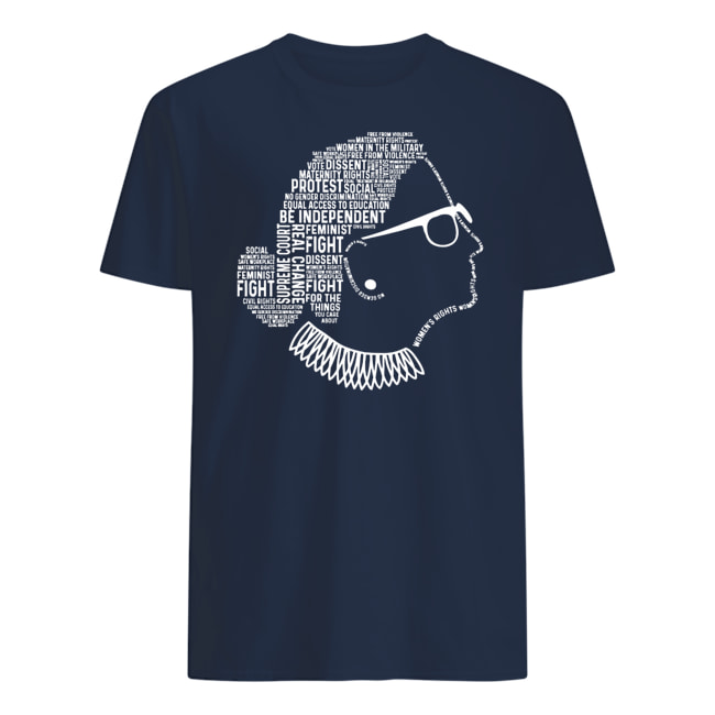 Notorious rbg ruth bader ginsburg quotes feminist mens shirt
