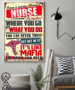 Once a nurse always a nurse no matter where you go or what you do poster
