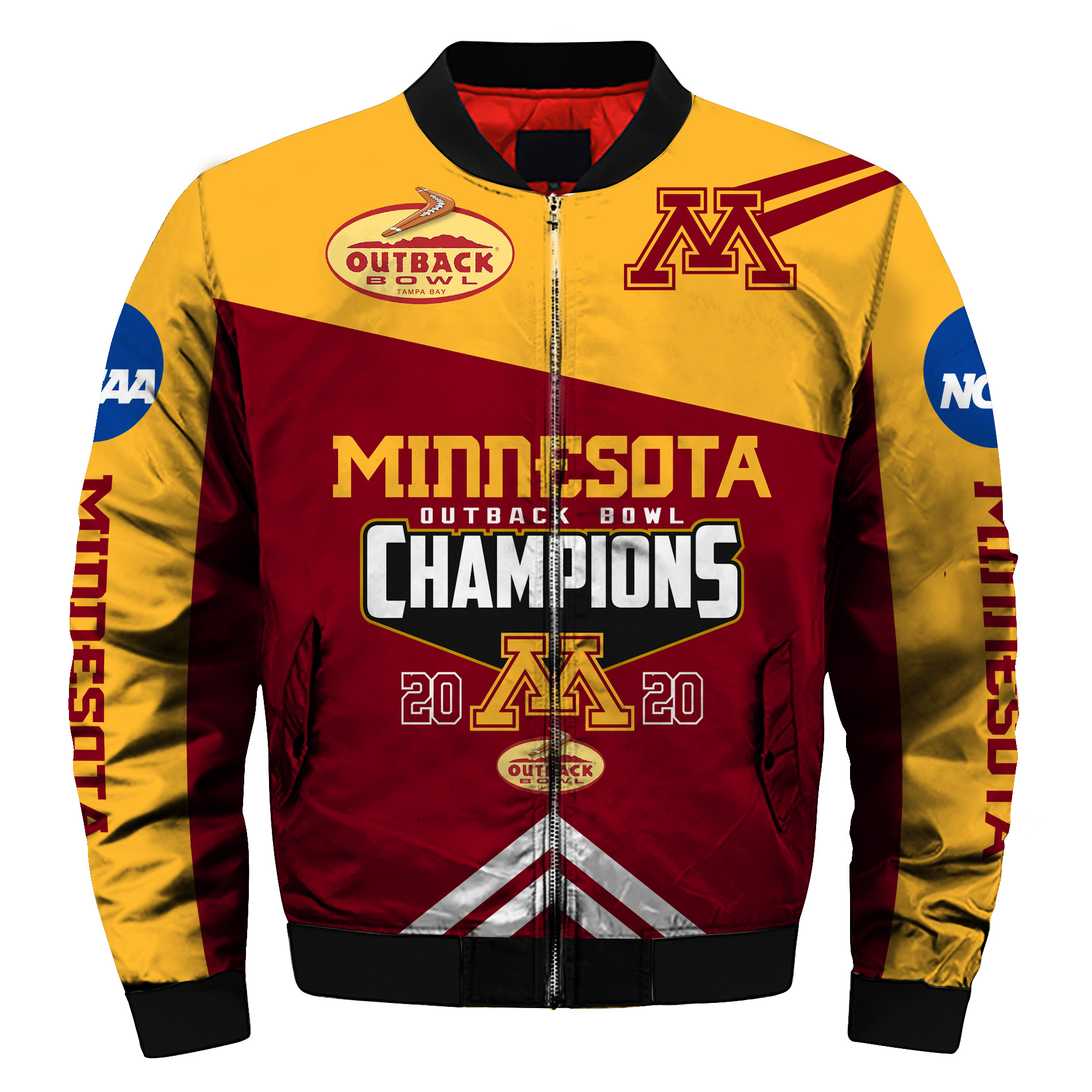 Outback bowl minnesota golden gophers champions all over print bomber