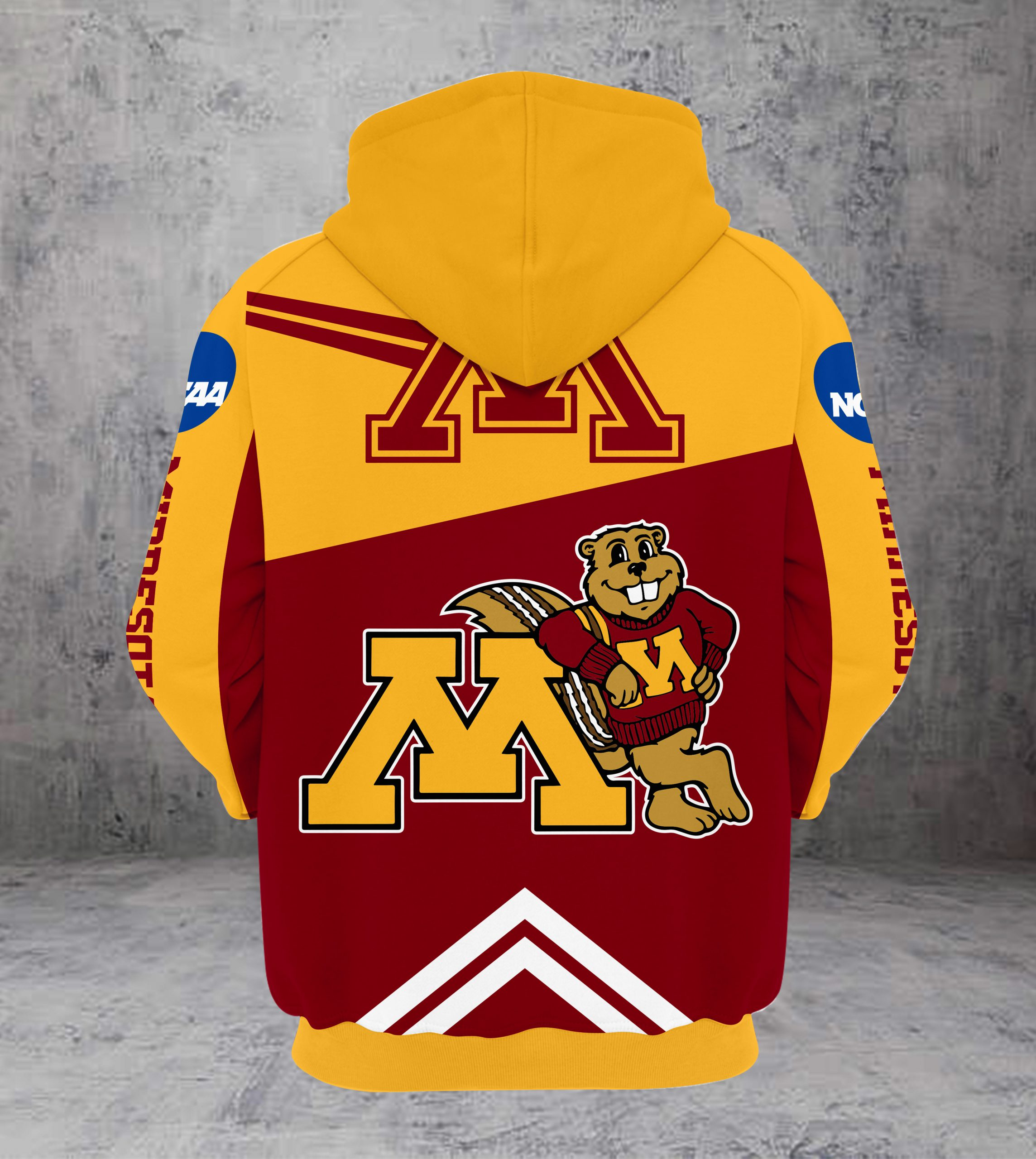 Outback bowl minnesota golden gophers champions all over print hoodie - back