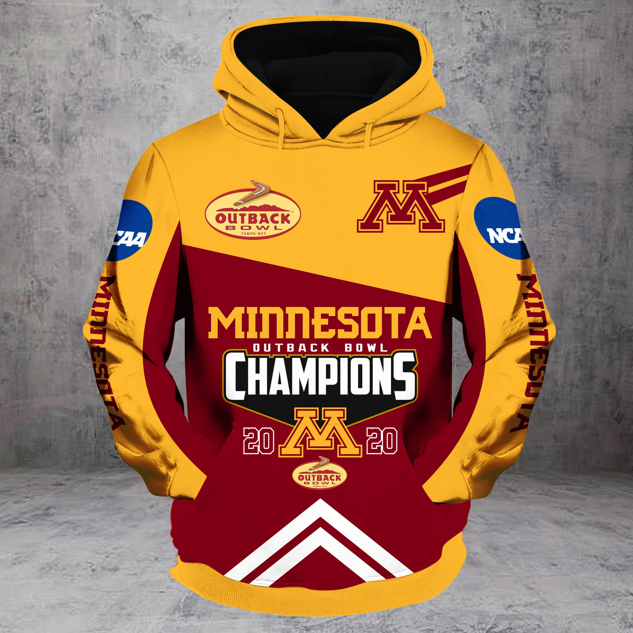 Outback bowl minnesota golden gophers champions all over print hoodie