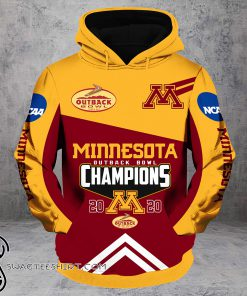 Outback bowl minnesota golden gophers champions all over print shirt