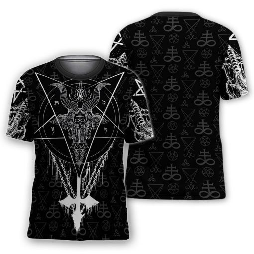 Satanic all over printed tshirt