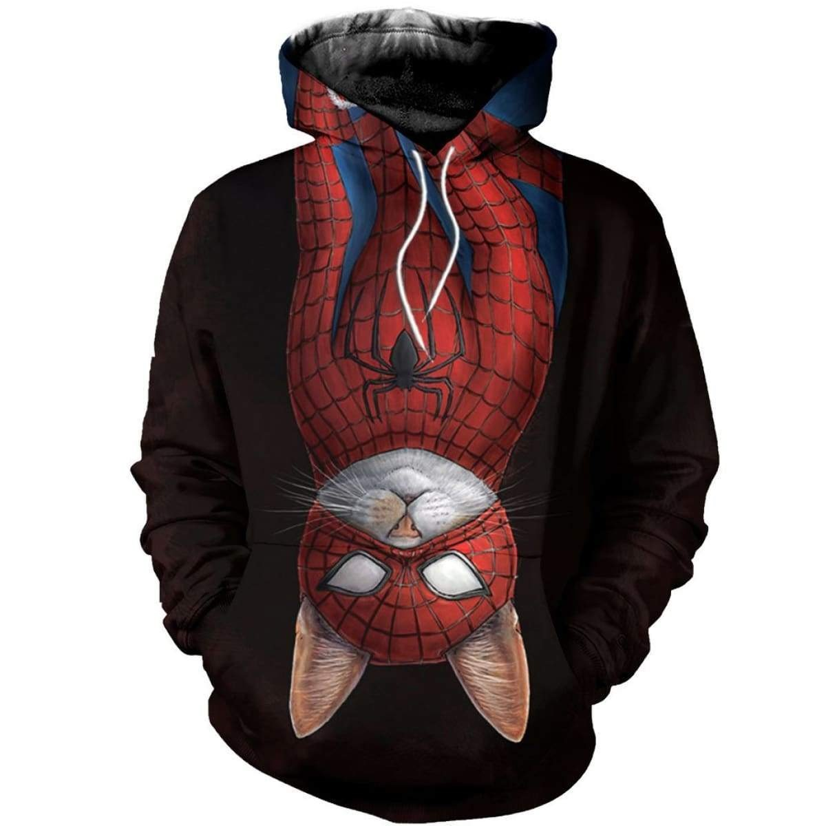 Spider-cat all over printed hoodie