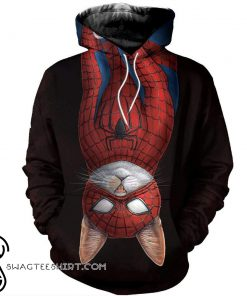 Spider-cat all over printed shirt