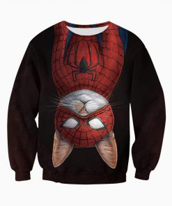 Spider-cat all over printed sweatshirt