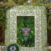 St patrick's day owl all over printed quilt