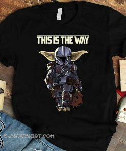 Star wars the mandalorian dark portrait shirt