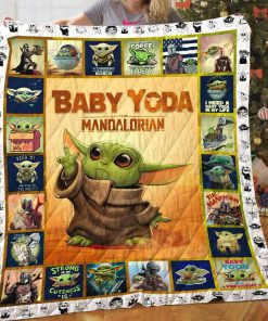 Star wars the mandalorian's baby yoda quilt 1