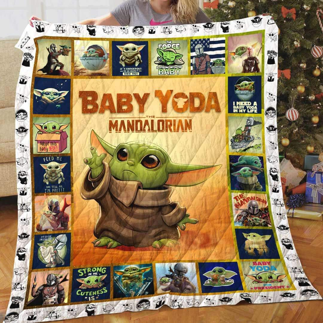 Star wars the mandalorian's baby yoda quilt 2