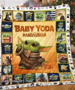 Star wars the mandalorian's baby yoda quilt