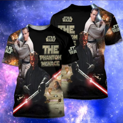 Star wars the phantom menace full over print tshirt