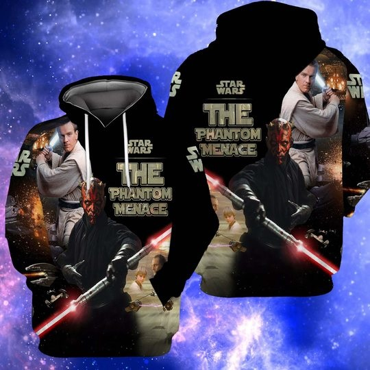 Star wars the phantom menace full over print zip hoodie