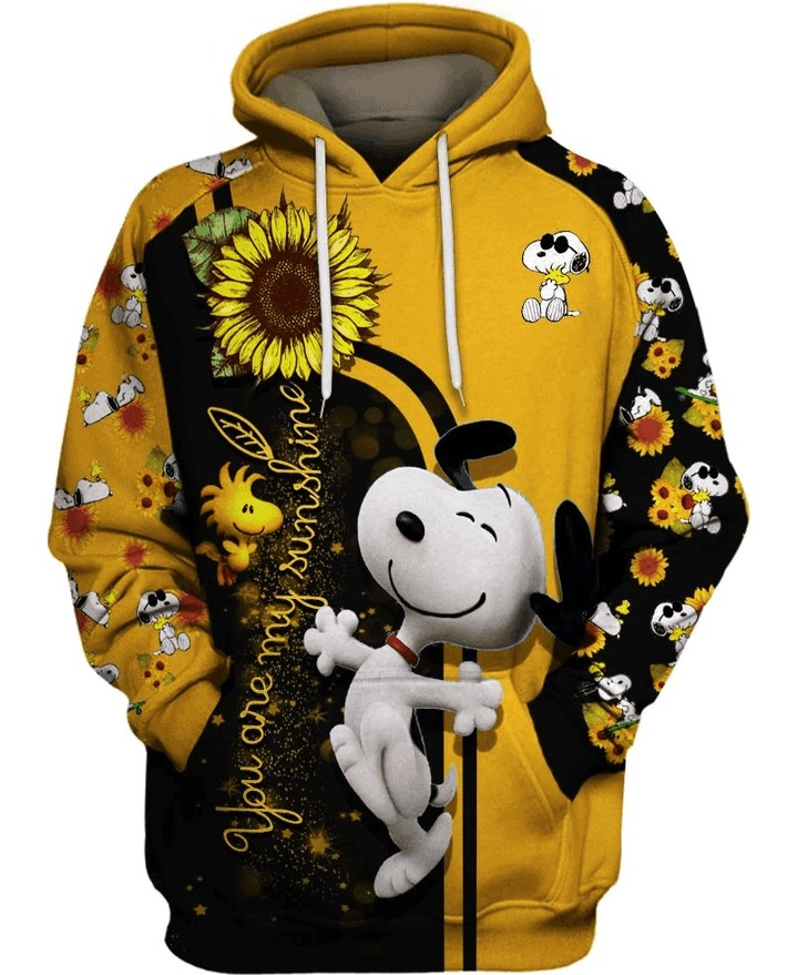 Sunflower you are my sunshine snoopy all over print hoodie