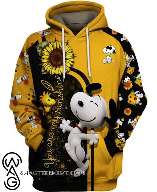 Sunflower you are my sunshine snoopy all over print shirt