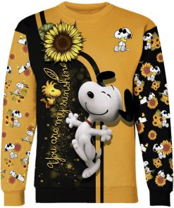 Sunflower you are my sunshine snoopy all over print sweatshirt