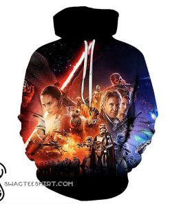 The star wars movie poster full printing shirt
