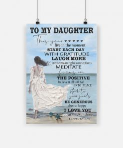 To my daughter i love you you are my sunshine love mom poster 1