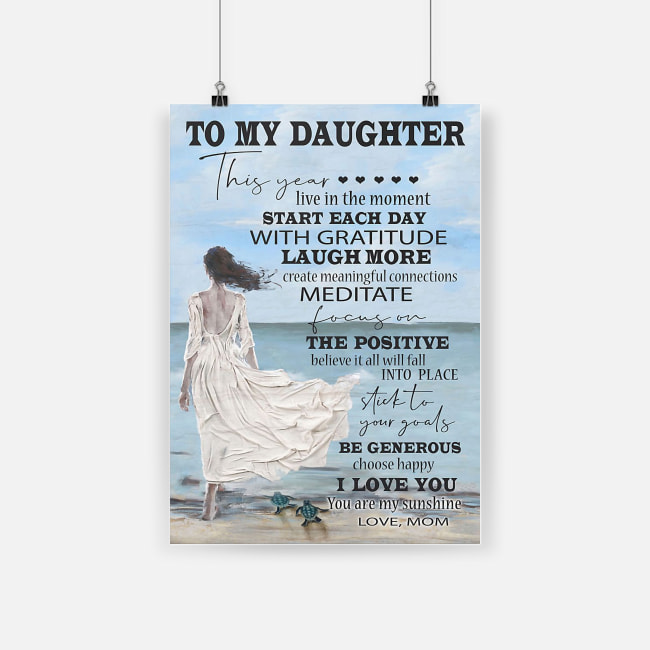 To my daughter i love you you are my sunshine love mom poster 2