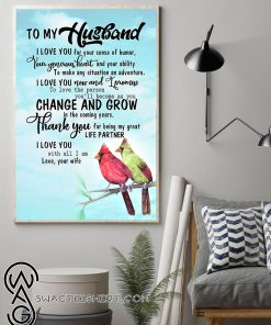 To my husband thank you for being my great life partner cardinal poster