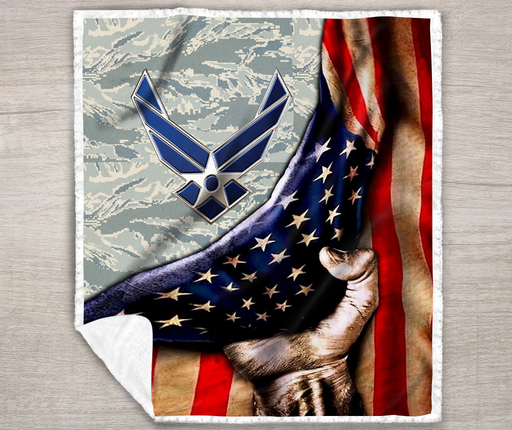 US air force all over printed quilt 2