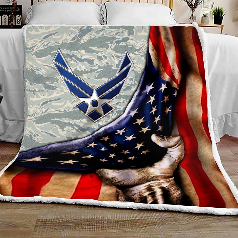 US air force all over printed quilt 3