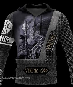 Viking God all over printed shirt