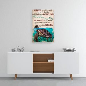 Whenever you find yourself sea turtle canvas 1