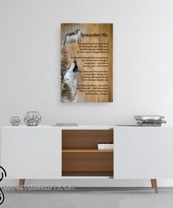Wolf remember me canvas
