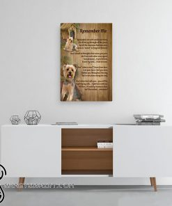 Yorkshire remember me canvas