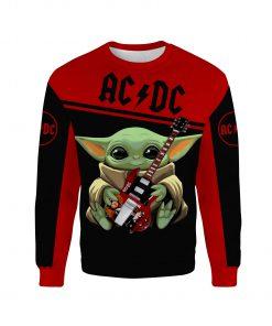 ACDC baby yoda all over print sweatshirt