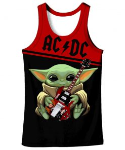 ACDC baby yoda all over print tank top