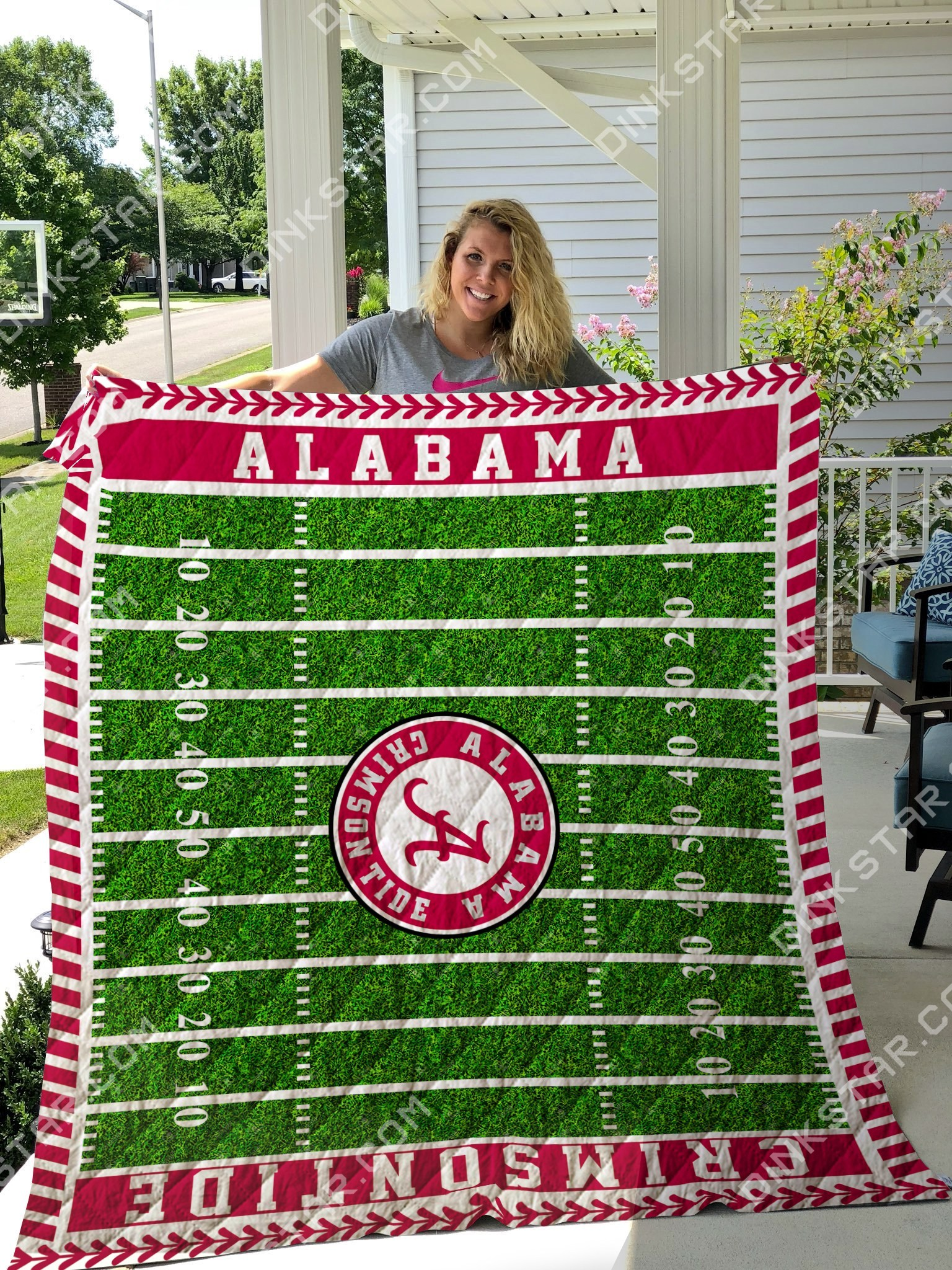Alabama crimson tide football quilt 4
