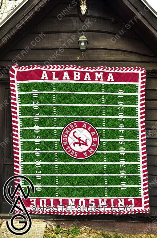 Alabama crimson tide football quilt