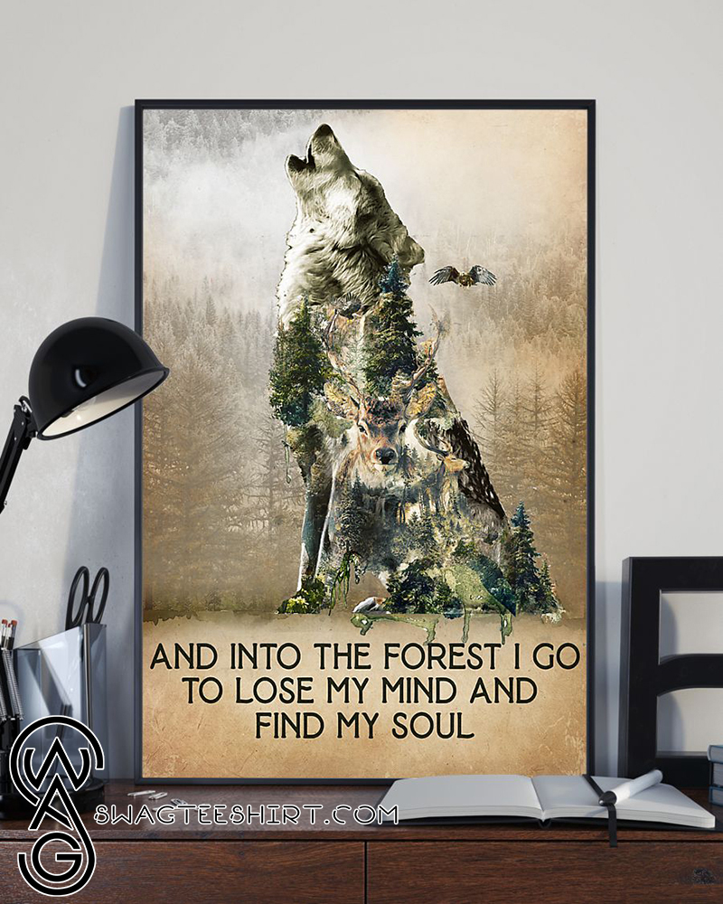 Hiking Skull Vintage Poster And Into The Forest I Go To Lose My Mind And Find My