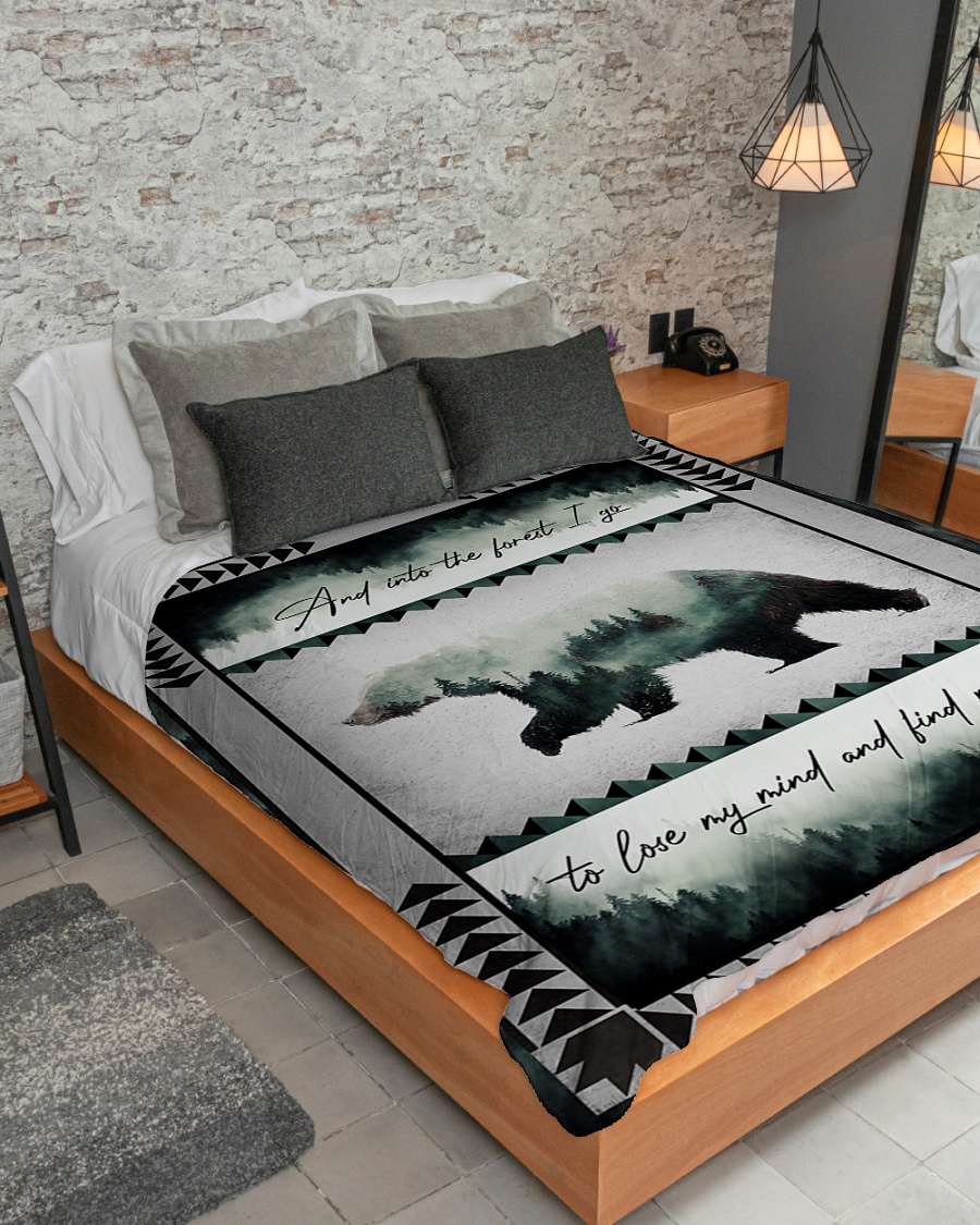 And into the forest i go to lose my mind camping bear blanket 2