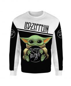 Baby yoda led zeppelin full printing sweatshirt