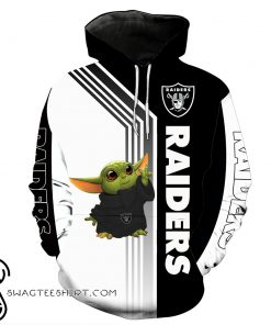Baby yoda oakland raiders full printing shirt