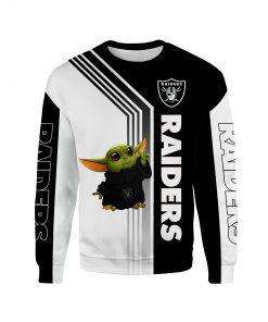 Baby yoda oakland raiders full printing sweatshirt
