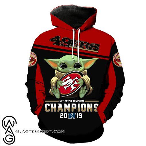 Baby yoda san francisco 49ers champions full printing shirt